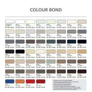 Akemi Color Bond Epoxy Color Chart