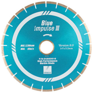 disco blue impulse 3 premium marble blade - stone fabrication tools