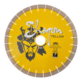 Shogun yellow cutting blade - stone fabrication tools
