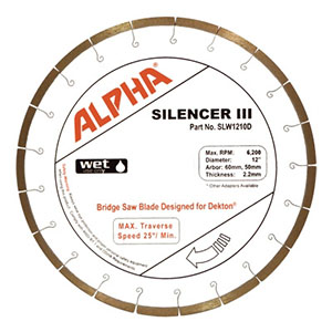 Alpha Silencer III Blade for Dekton