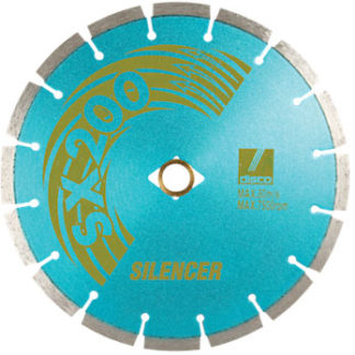 discoblue silencer segmented dry blade with silent core