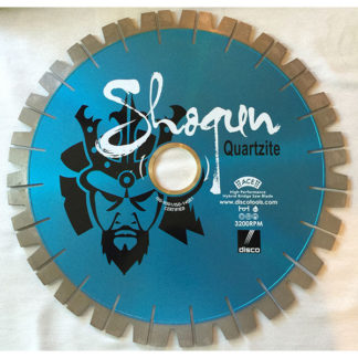 Shogun quartzite bridge saw cutting blade