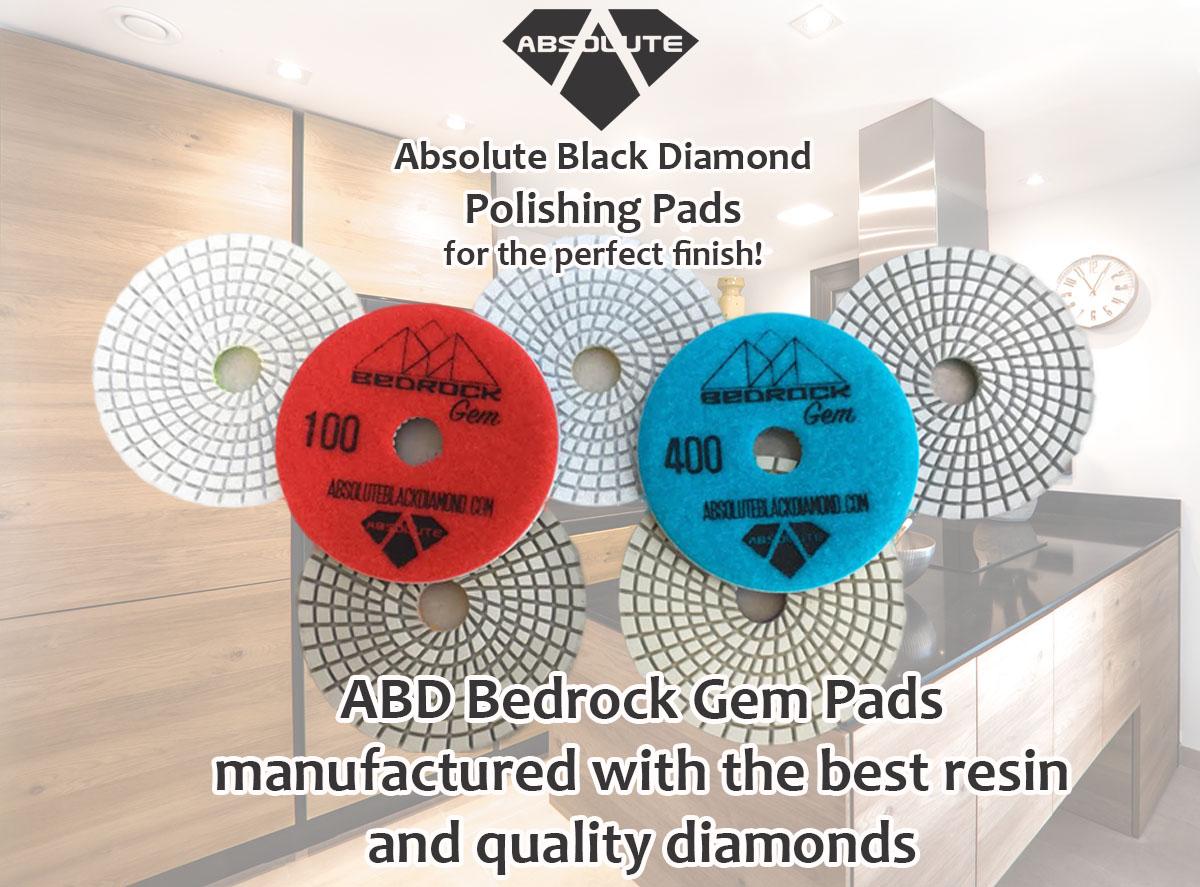 abolute black diamond gem bedrock pads - premium quality stone tools
